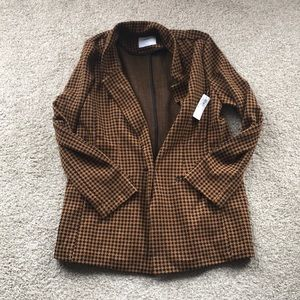 NWT Old Navy houndstooth knit blazer